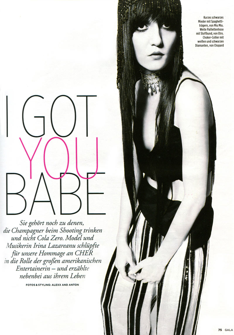 IrinaLazareanu0 Irina Lazareanu Channels Cher for Gala Germany by Alexx and Anton
