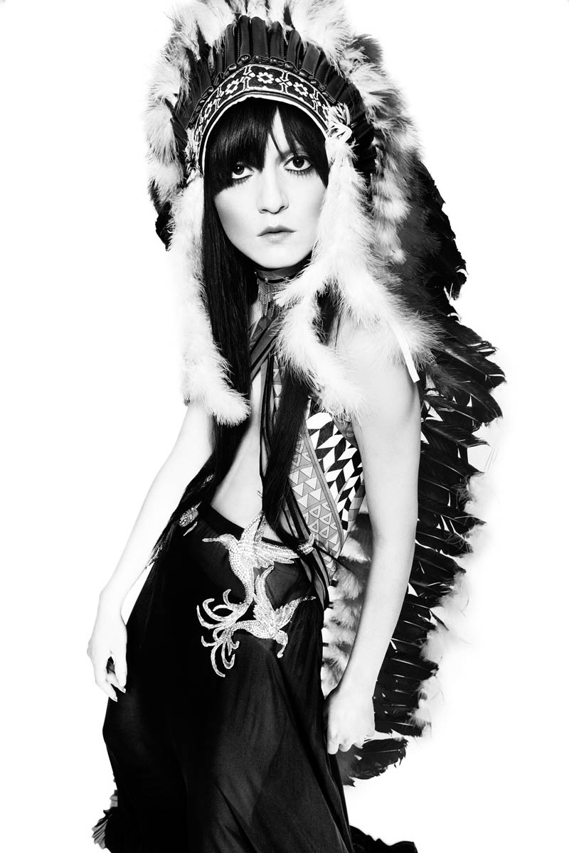IrinaLazareanuGala4 Irina Lazareanu Channels Cher for Gala Germany by Alexx and Anton