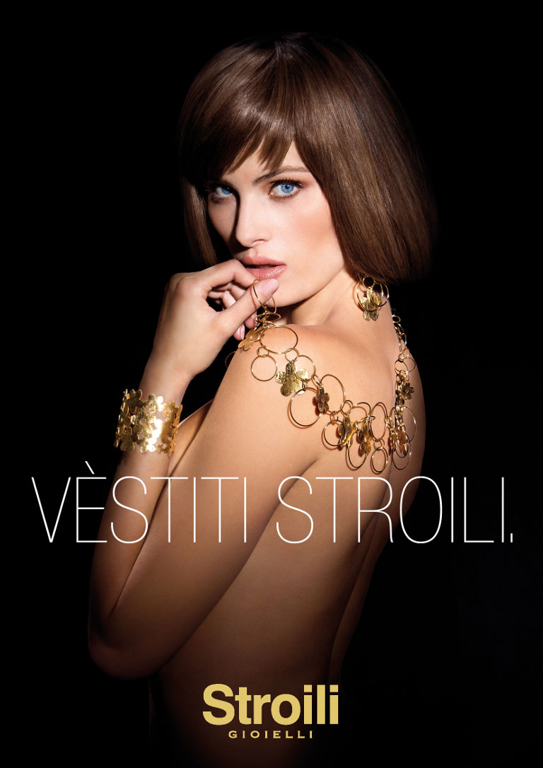 IsabeliFontanaJewelry1 Isabeli Fontana Sparkles in Stroili Oro 2013 Campaign