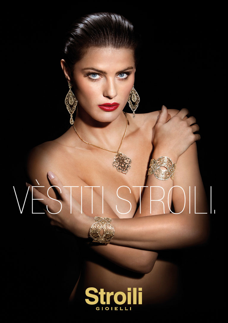 IsabeliFontanaJewelry2 Isabeli Fontana Sparkles in Stroili Oro 2013 Campaign