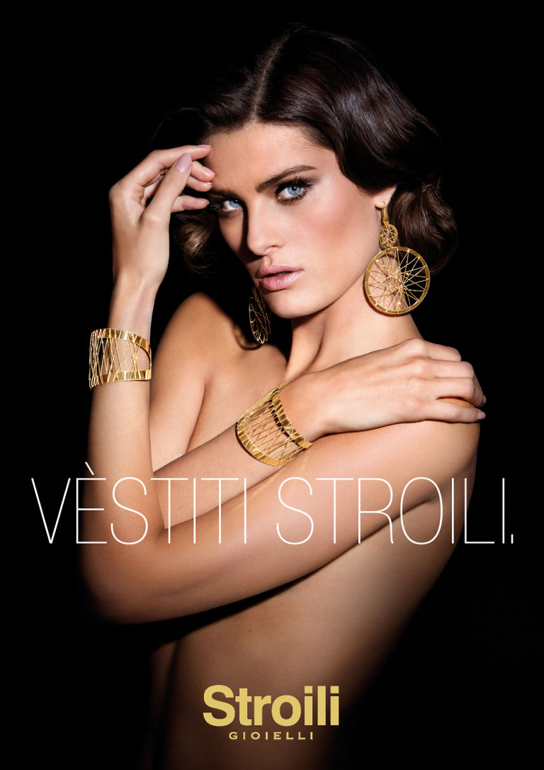 IsabeliFontanaJewelry3 Isabeli Fontana Sparkles in Stroili Oro 2013 Campaign