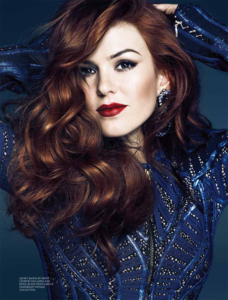 Isla Fisher Feature FASHION Mag May 2013 1 Isla Fisher Wears Burberry Prorsum for Fashion Canadas May 2013 Cover