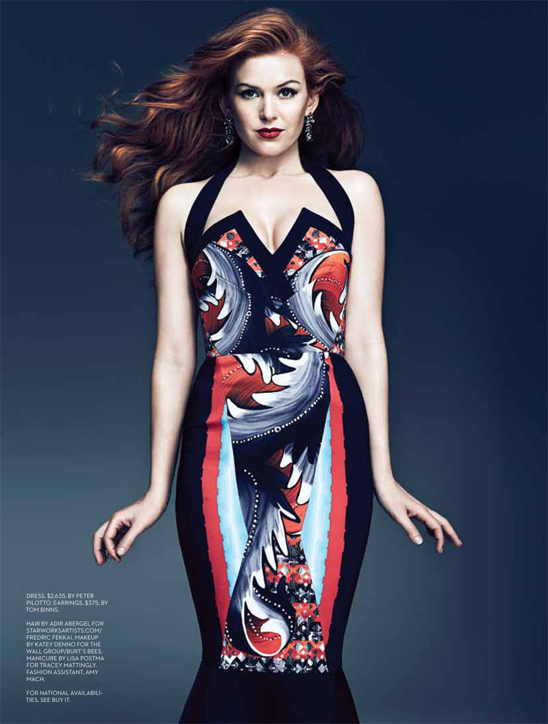 Isla Fisher Feature FASHION Mag May 2013 2 Isla Fisher Wears Burberry Prorsum for Fashion Canadas May 2013 Cover