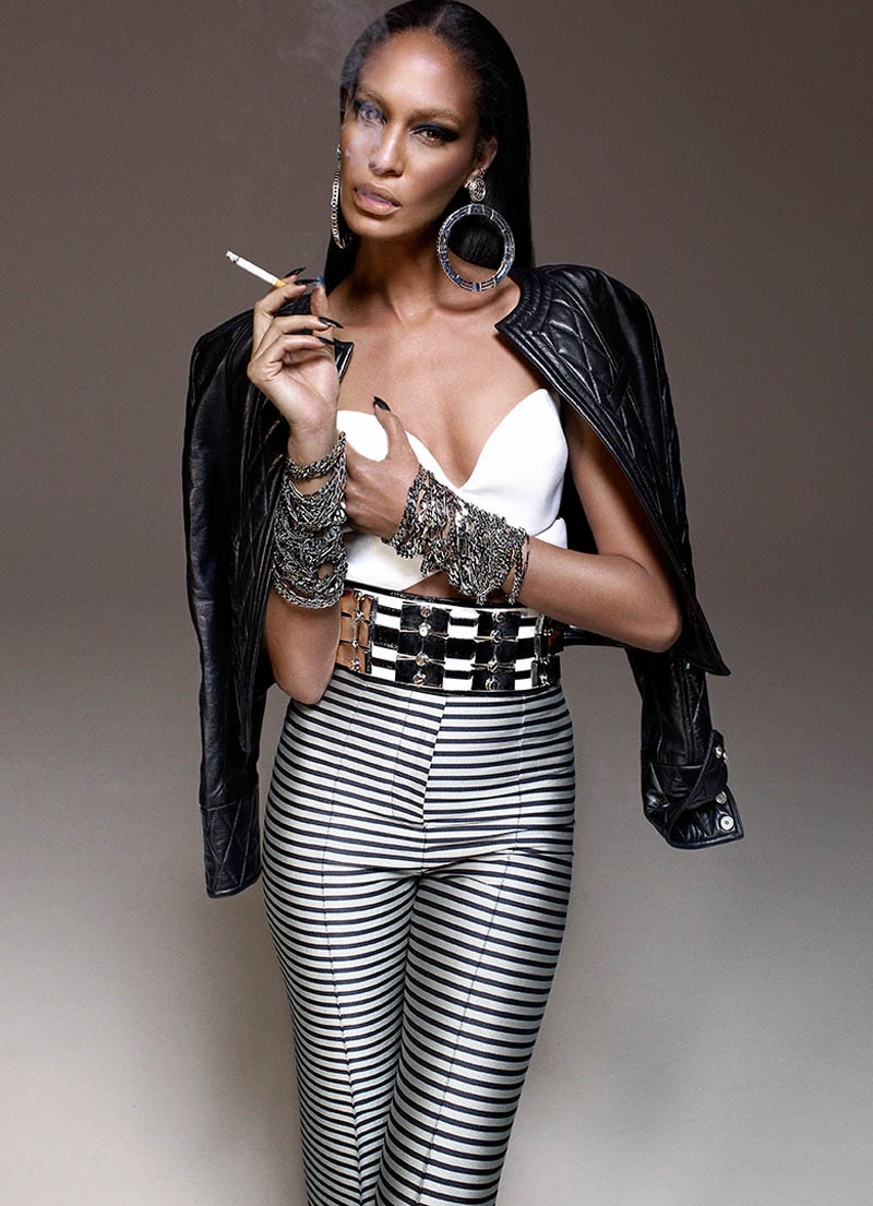JoanSmallsModernWeekly6 Joan Smalls is Bad Girl Chic for Modern Weekly China by John Paul Pietrus