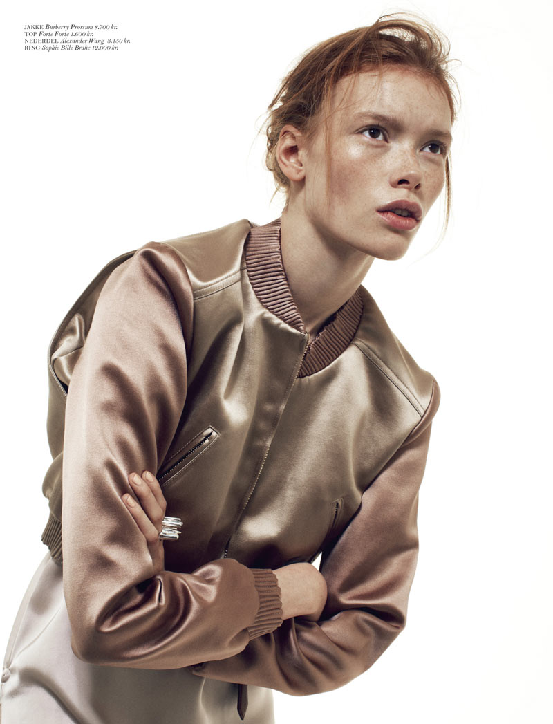 JuliaHafstromCover2 Julia Hafstrom Dons Modern Cool For Cover Magazine By Andreas Ohlund