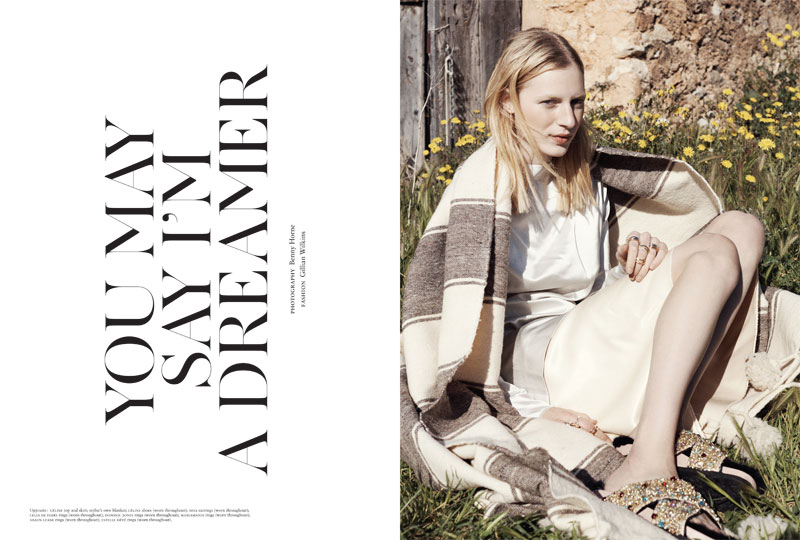 JuliaNobisRussh1 Julia Nobis Keeps it Low Key in Russhs April/May 2013 Cover Shoot