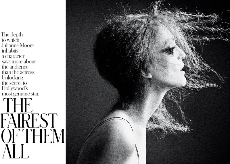 JulianneMooreTMag1 Julianne Moore Gets Dramatic for Inez & Vinoodh in T Magazines Spring Issue