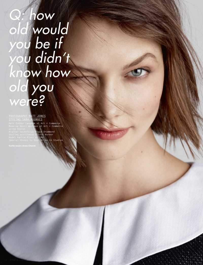 Karlie Kloss Graces the Pages of i-D's Spring Issue