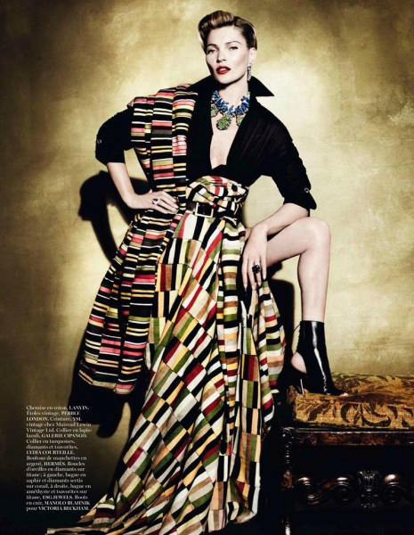 Kate Moss Celebrates Peruvian Style with Mario Testino for Vogue Paris April 2013