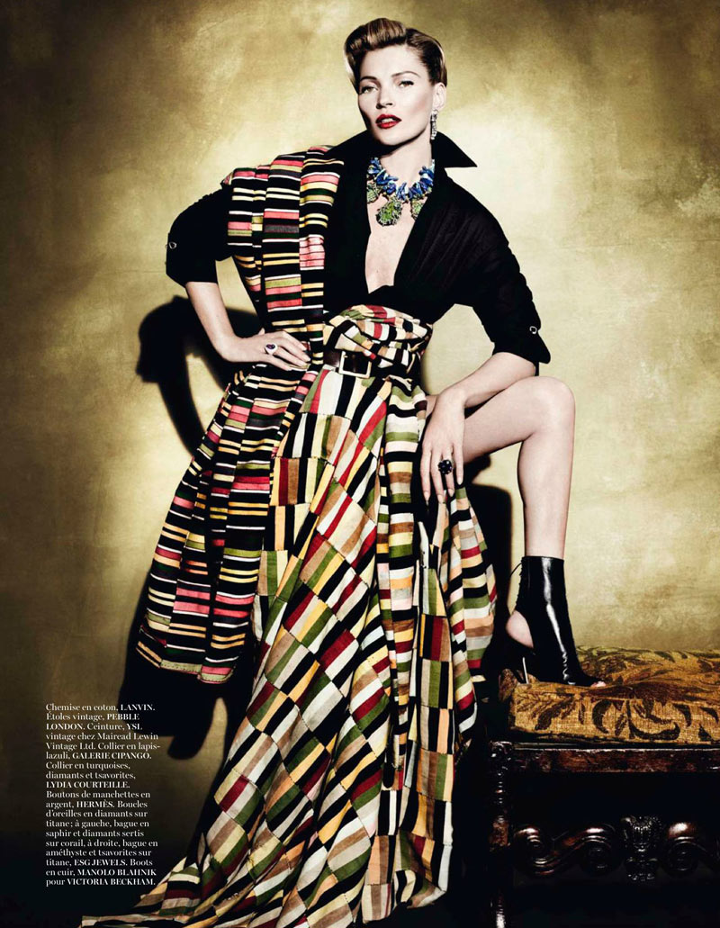 KateMossMarioTestino5 Kate Moss Celebrates Peruvian Style with Mario Testino for Vogue Paris April 2013