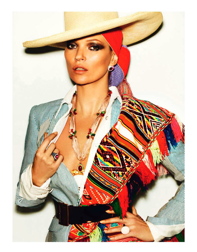 KateMossMarioTestino7 Kate Moss Celebrates Peruvian Style with Mario Testino for Vogue Paris April 2013
