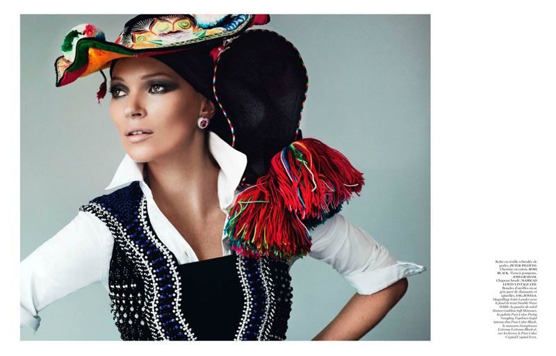 KateMossMarioTestino9 Kate Moss Celebrates Peruvian Style with Mario Testino for Vogue Paris April 2013