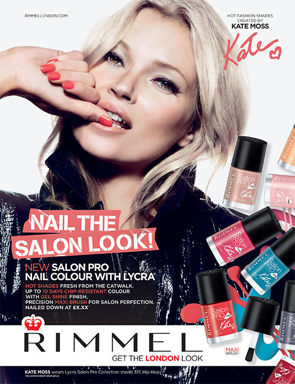 KateMossRimmel4 Kate Moss Shines in Rimmel Londons Spring/Summer 2013 Campaign