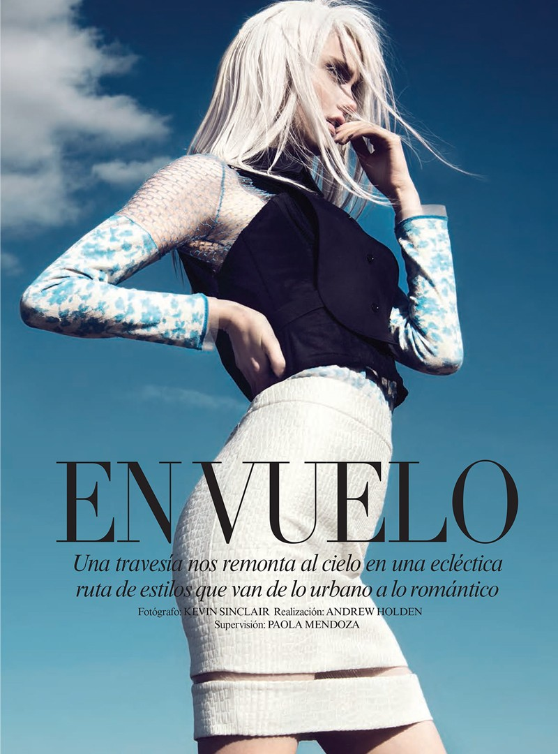 KatieFogartyKevinSinclair1 Katie Fogarty Wears Eclectic Fashions for Kevin Sinclair in Vogue Latin America May 2013
