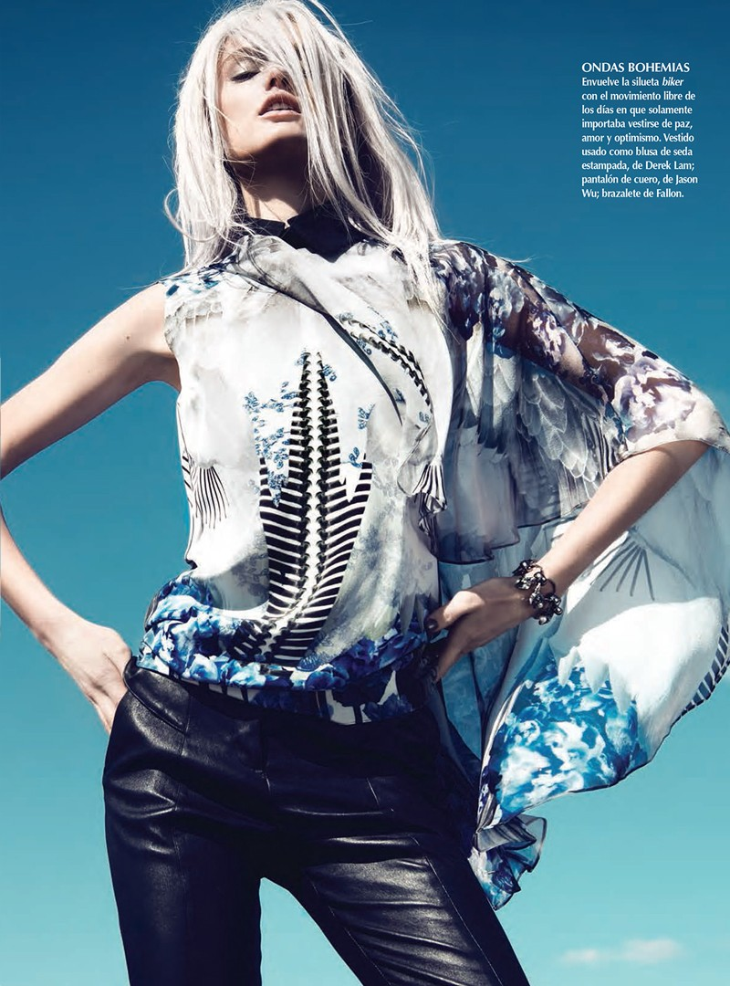 KatieFogartyKevinSinclair5 Katie Fogarty Wears Eclectic Fashions for Kevin Sinclair in Vogue Latin America May 2013