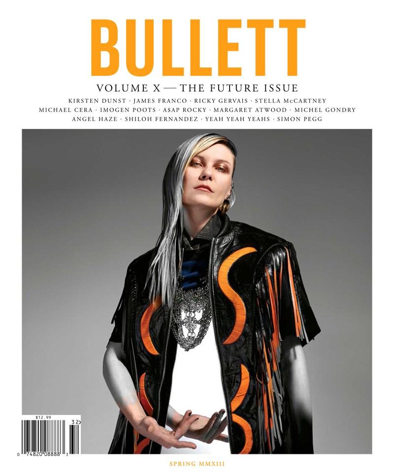 KristenDunstBullett5 Kirsten Dunst Dons Rodarte for Bullett Magazines Spring 2013 Cover