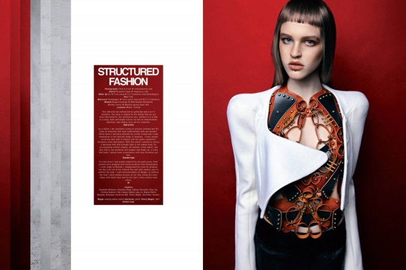 KurvShoot1 800x533 Megan and Melody Wear Structured Fashion in Kurv Magazine by Eliot & Erick