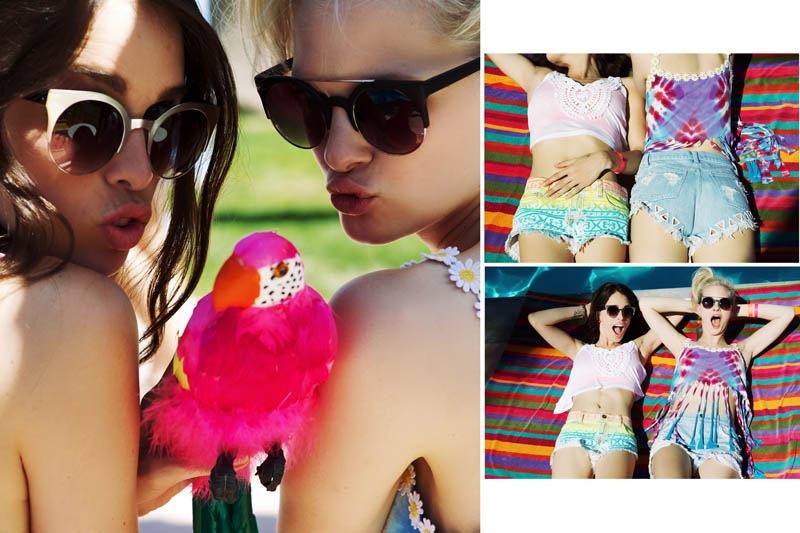 LFStoresLB11 Hannah Holman and Chelsea Tyler Have Summer Fun for LF Stores Festival Lookbook