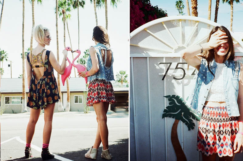 LFStoresLB13 Hannah Holman and Chelsea Tyler Have Summer Fun for LF Stores Festival Lookbook