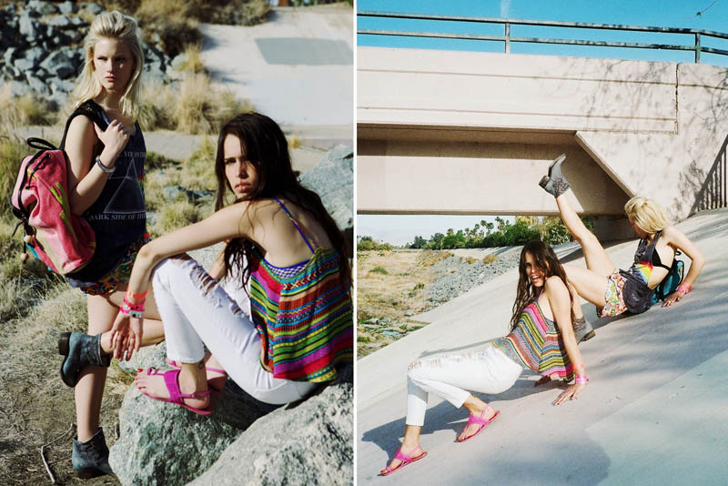LFStoresLB19 Hannah Holman and Chelsea Tyler Have Summer Fun for LF Stores Festival Lookbook