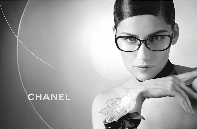 Laetitia Casta wearing CHANEL 2171 eyeglasses