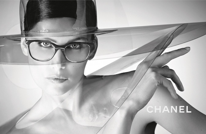 Laetitia Casta wearing CHANEL 1506T eyeglasses