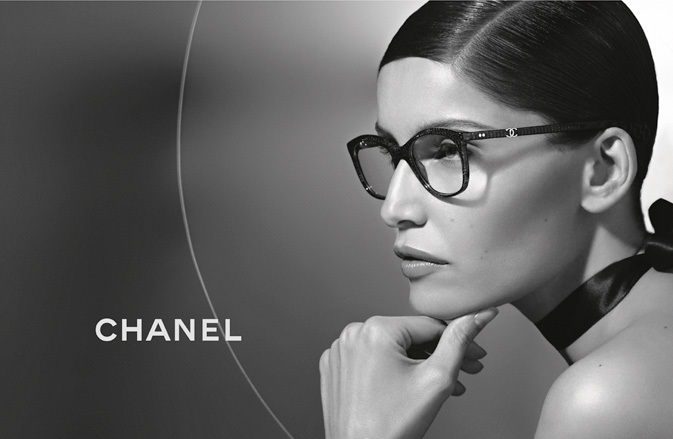 Laetitia Casta wearing CHANEL 3252 eyeglasses