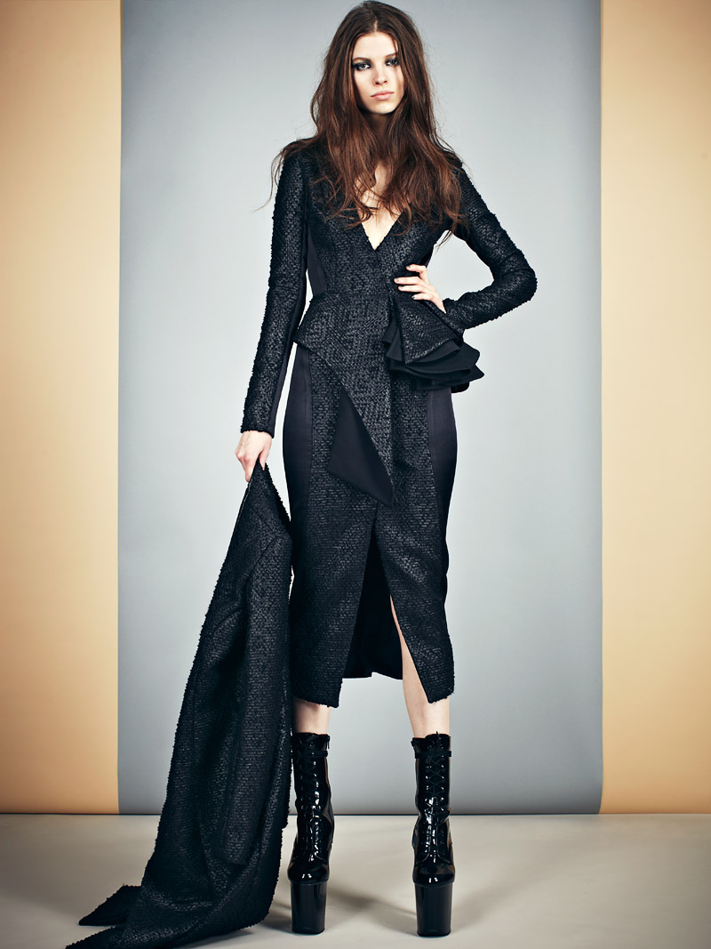 Mikhael kale 39 s sleek and modern fall winter 2013 collection Mla winter style fashion set