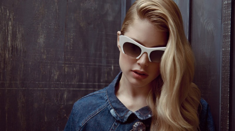 MiuMiuEyewear5 800x447 Doutzen Kroes, Bette Franke, Martha Hunt and More Star in Miu Miu Eyewear Spring 2013 Campaign by Inez & Vinoodh