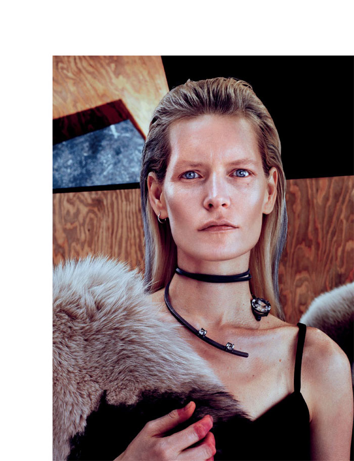 MiuMiuInterview4 Kirsten Owen Dons Miu Miu for Interview Russia May 2013 by Sebastian Mader