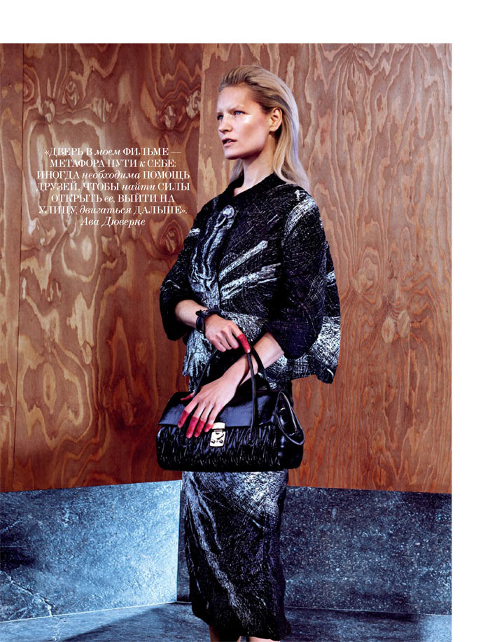 MiuMiuInterview5 Kirsten Owen Dons Miu Miu for Interview Russia May 2013 by Sebastian Mader