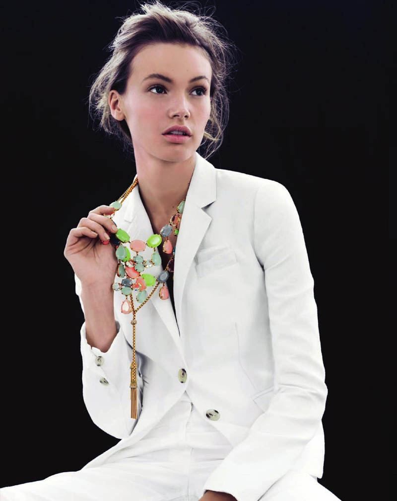 MonaJCrew2 Mona Johannesson Wears Colorful Jewelry for J. Crews April Style Guide