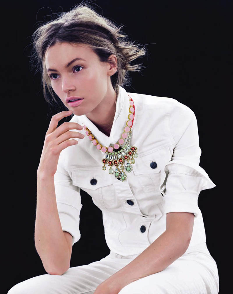 MonaJCrew5 Mona Johannesson Wears Colorful Jewelry for J. Crews April Style Guide