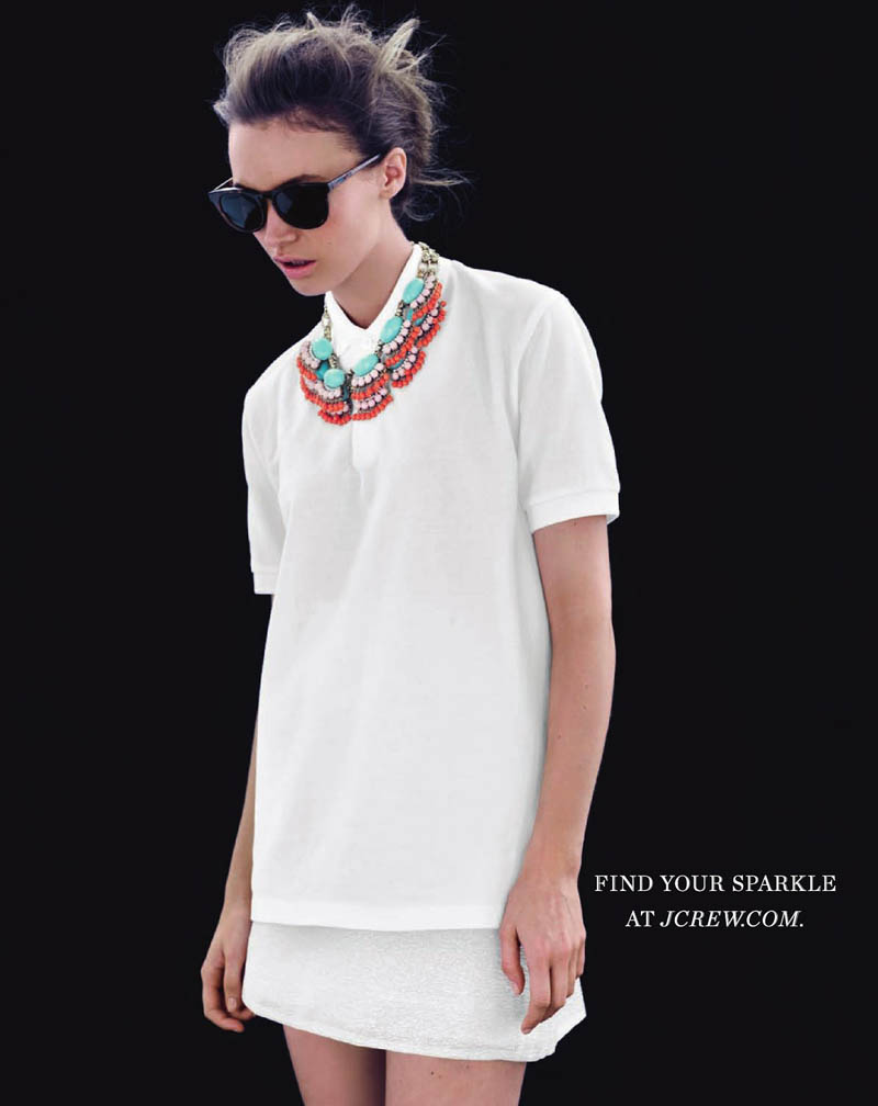 MonaJCrew6 Mona Johannesson Wears Colorful Jewelry for J. Crews April Style Guide