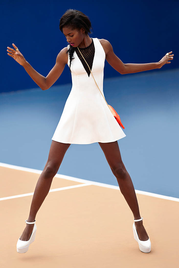 Melodie Monrose is Sporty Chic for Nasty Gal's April Lookbook