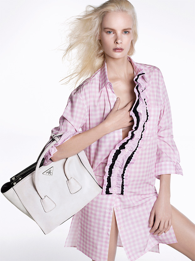 Prada Taps Vanessa Axente, Irene Hiemstra and Amanda Murphy for Pre-Fall 2013 Campaign by Steven Meisel
