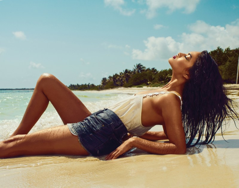 RevolveShaninaShaik2 Shanina Shaik Soaks up the Sun for Revolve Clothings Summer 2013 Lookbook