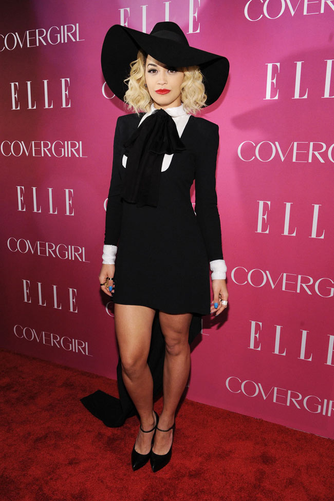 Rita Ora1 Rita Ora Sports Saint Laurent at the 4th Annual ELLE Women in Music Celebration