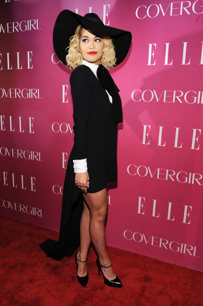 Rita Ora2 Rita Ora Sports Saint Laurent at the 4th Annual ELLE Women in Music Celebration