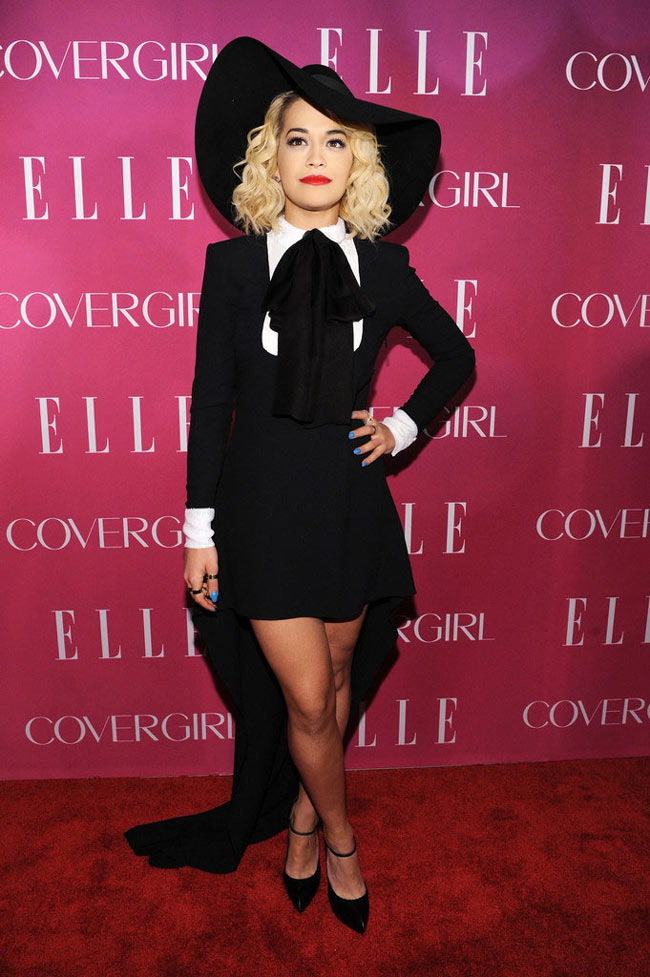 Rita Ora3 Rita Ora Sports Saint Laurent at the 4th Annual ELLE Women in Music Celebration