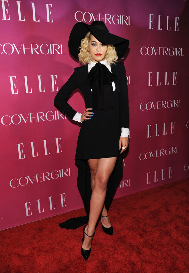 Rita Ora4 Rita Ora Sports Saint Laurent at the 4th Annual ELLE Women in Music Celebration