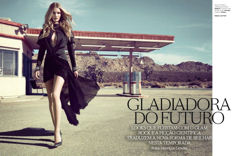 RosieVogueBrazil1 Rosie Huntington Whiteley is Pure Glamour in Vogue Brazils April 2013 Cover Shoot