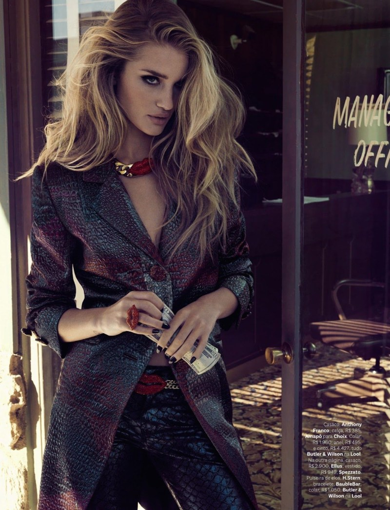 Rosie Huntington-Whiteley is Pure Glamour in Vogue Brazil's April 2013 Cover Shoot