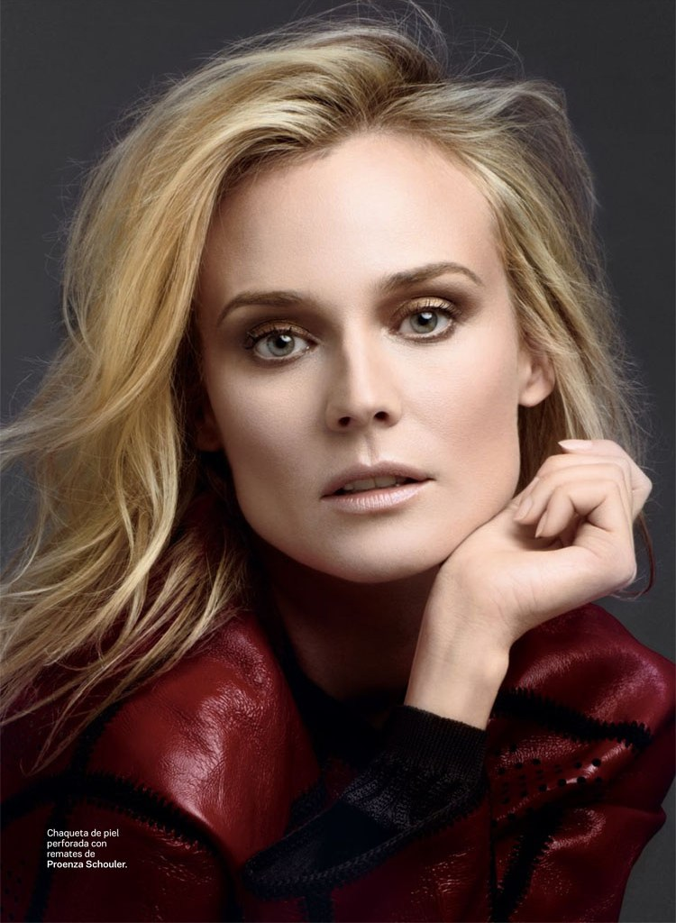 SModaDianeKruger2 Diane Kruger Works It for David Roemers Lens in S Moda April 2013
