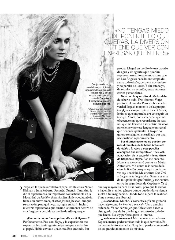 SModaDianeKruger4 Diane Kruger Works It for David Roemers Lens in S Moda April 2013