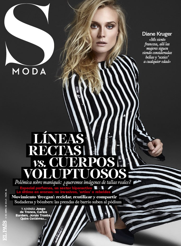 SModaDianeKruger5 Diane Kruger Works It for David Roemers Lens in S Moda April 2013
