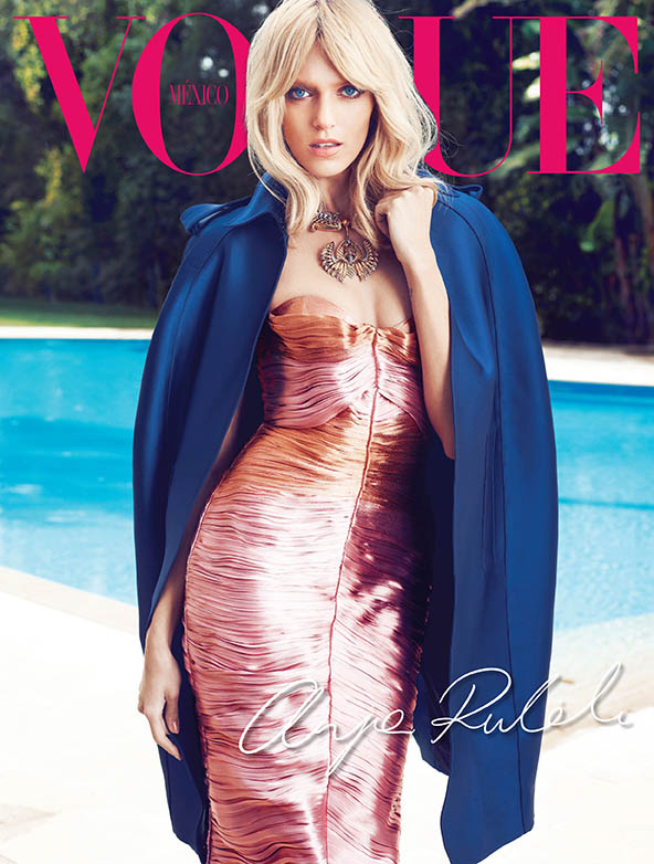 Sarah Gore Reeves Vogue Mexico Anja Rubik 02 Anja Rubik Wears Spring Style for Vogue Mexico's May 2013 Edition