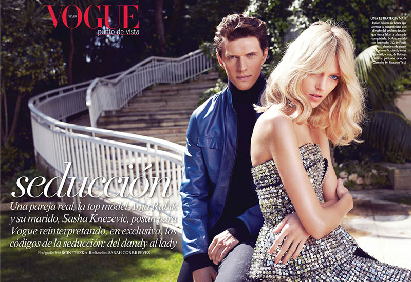 Anja Rubik Wears Spring Style for Vogue Mexico's May 2013 Edition