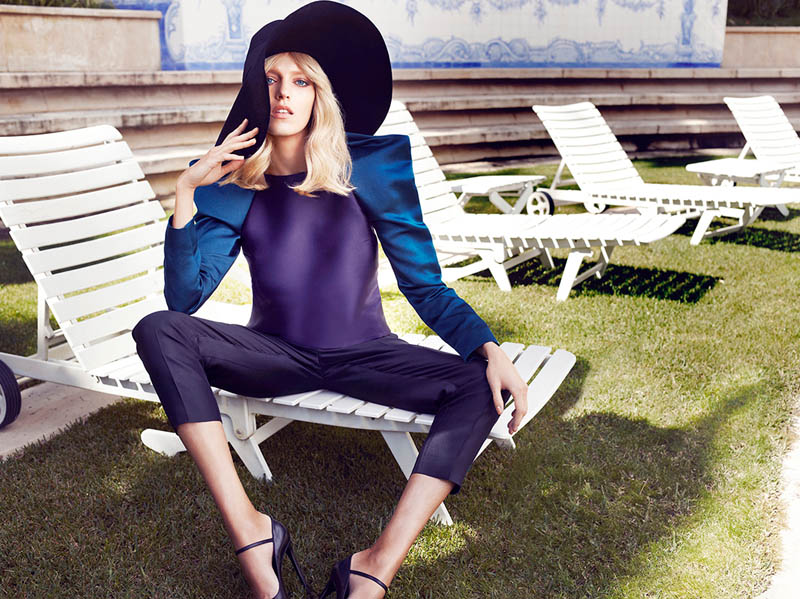 Sarah Gore Reeves Vogue Mexico Anja Rubik 05 2013 002 Anja Rubik Wears Spring Style for Vogue Mexico's May 2013 Edition