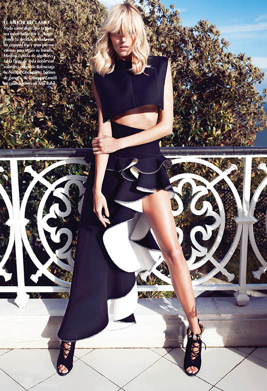 Sarah Gore Reeves Vogue Mexico Anja Rubik 05 2013 04a Anja Rubik Wears Spring Style for Vogue Mexico's May 2013 Edition